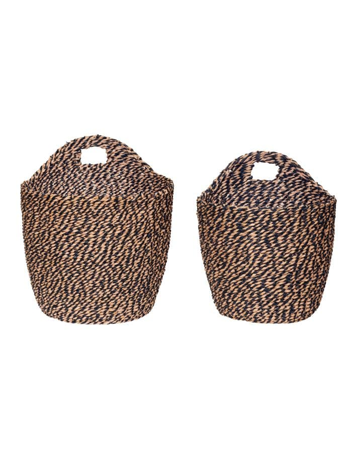 Hübsch Woven Hanging Basket, Set of Two