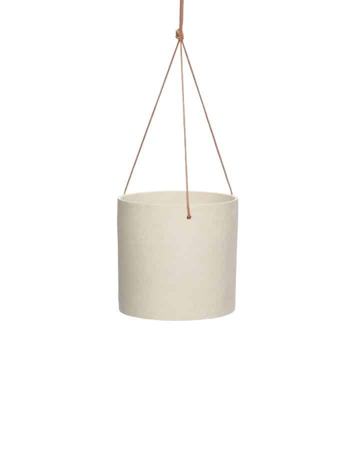 Hübsch Slim Ceramic Hanging Pot, Sand