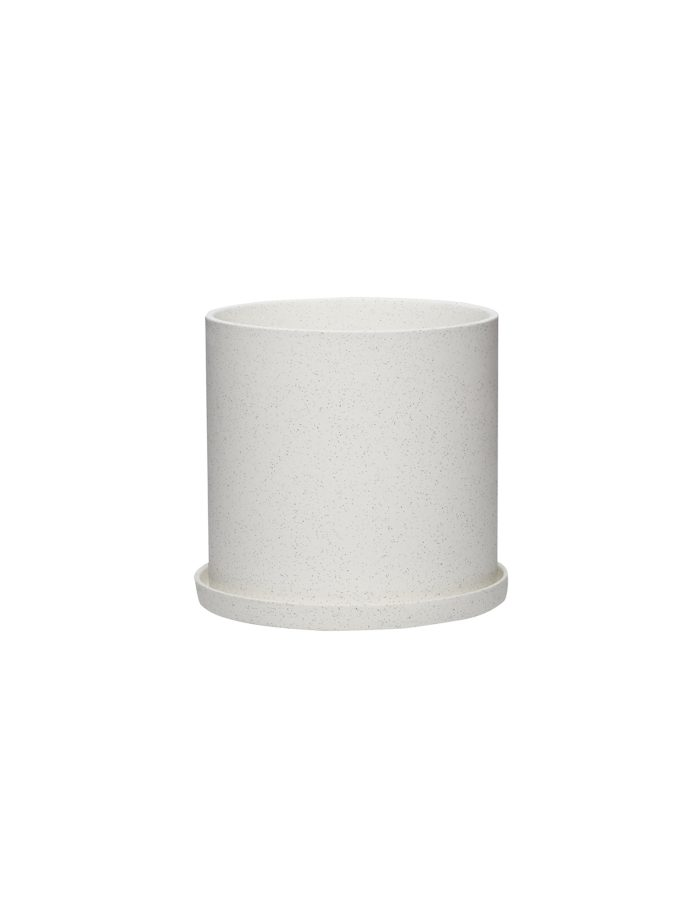 Hübsch Medium White Plant Pot, Ceramic