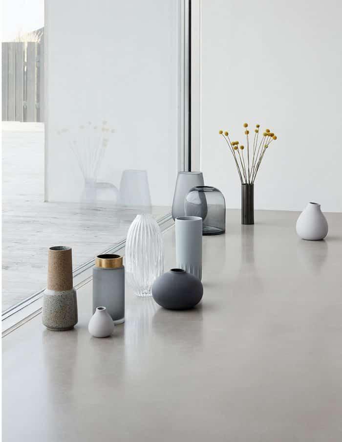 Hübsch Tall Ceramic Vase, Sand/Green