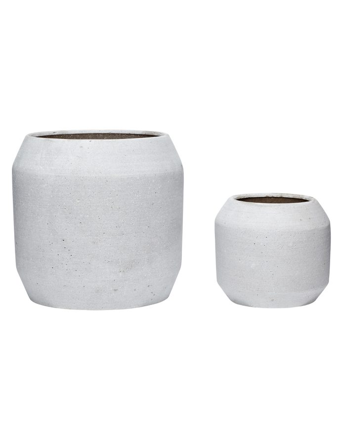 Grey Rounded Plant Pot Set, Hübsch