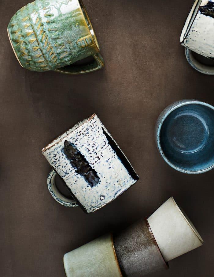 Six Stoneware Cups, Madam Stoltz