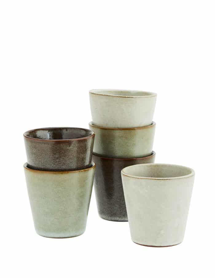 Stoneware Espresso Cup Set, Madam Stoltz