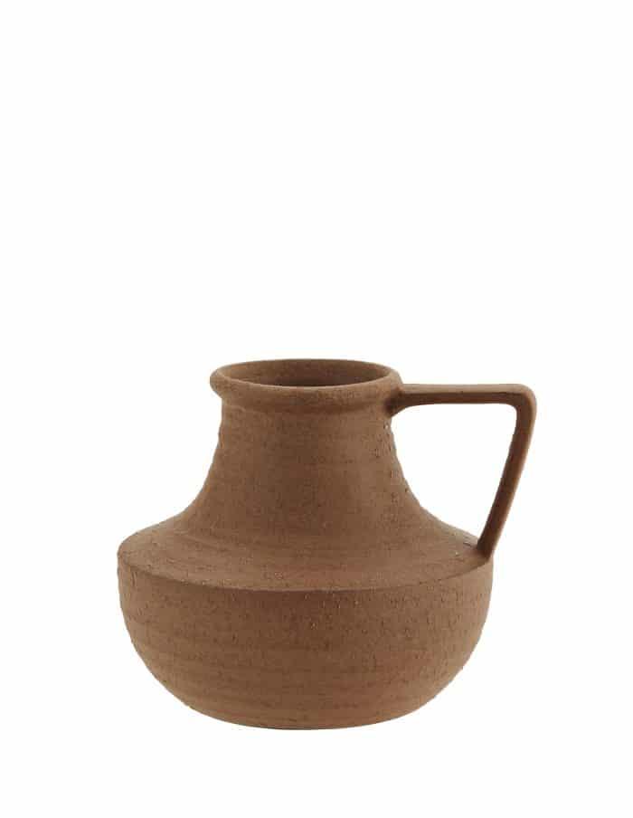 Madam Stoltz Terra Cotta Vase with Handle