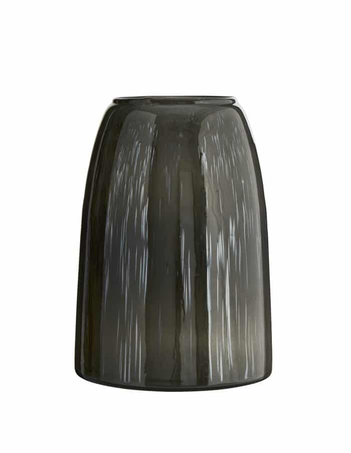 Madam Stoltz Grey Glass Vase