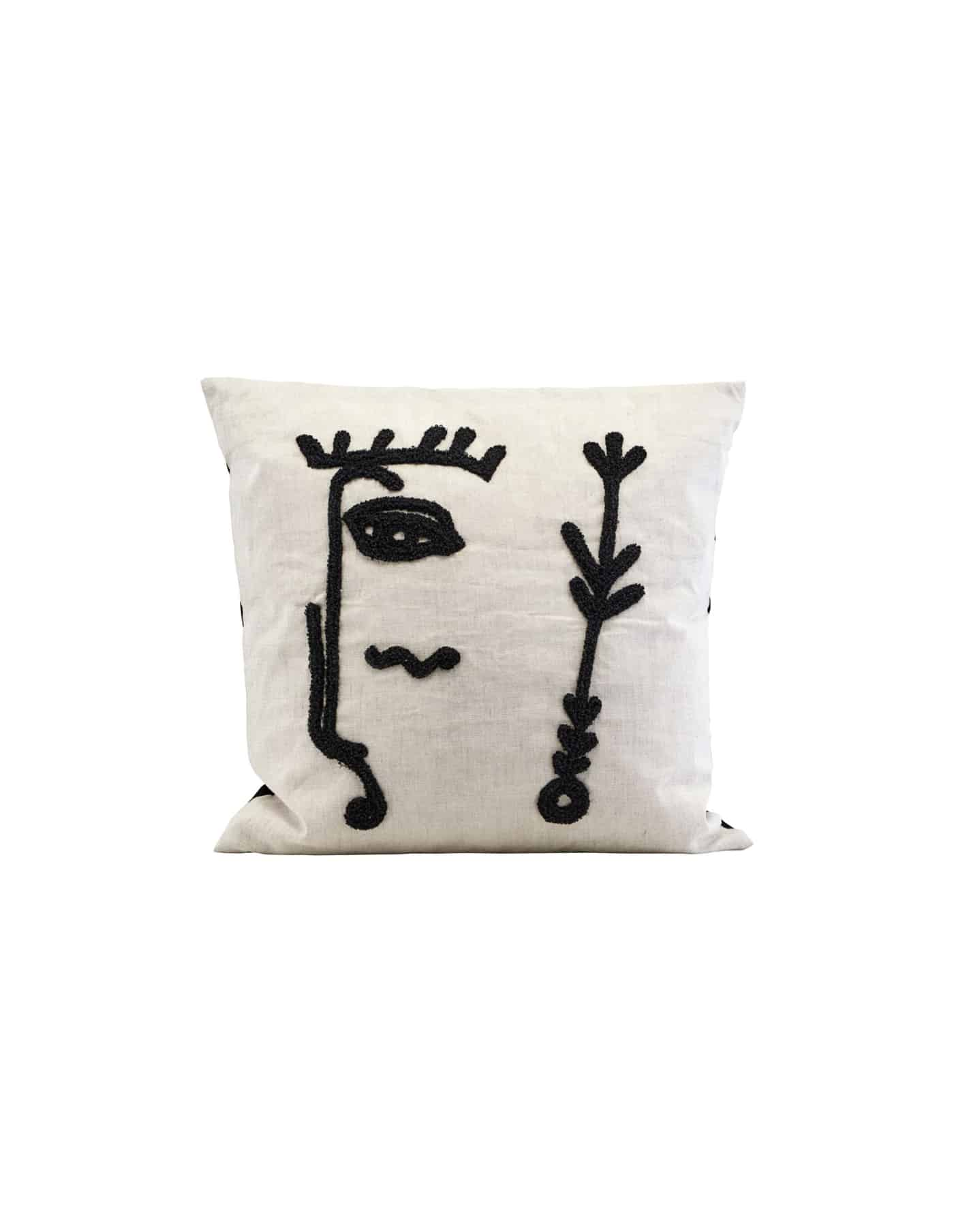 Ingo Abstract Linen Cushion , House Doctor