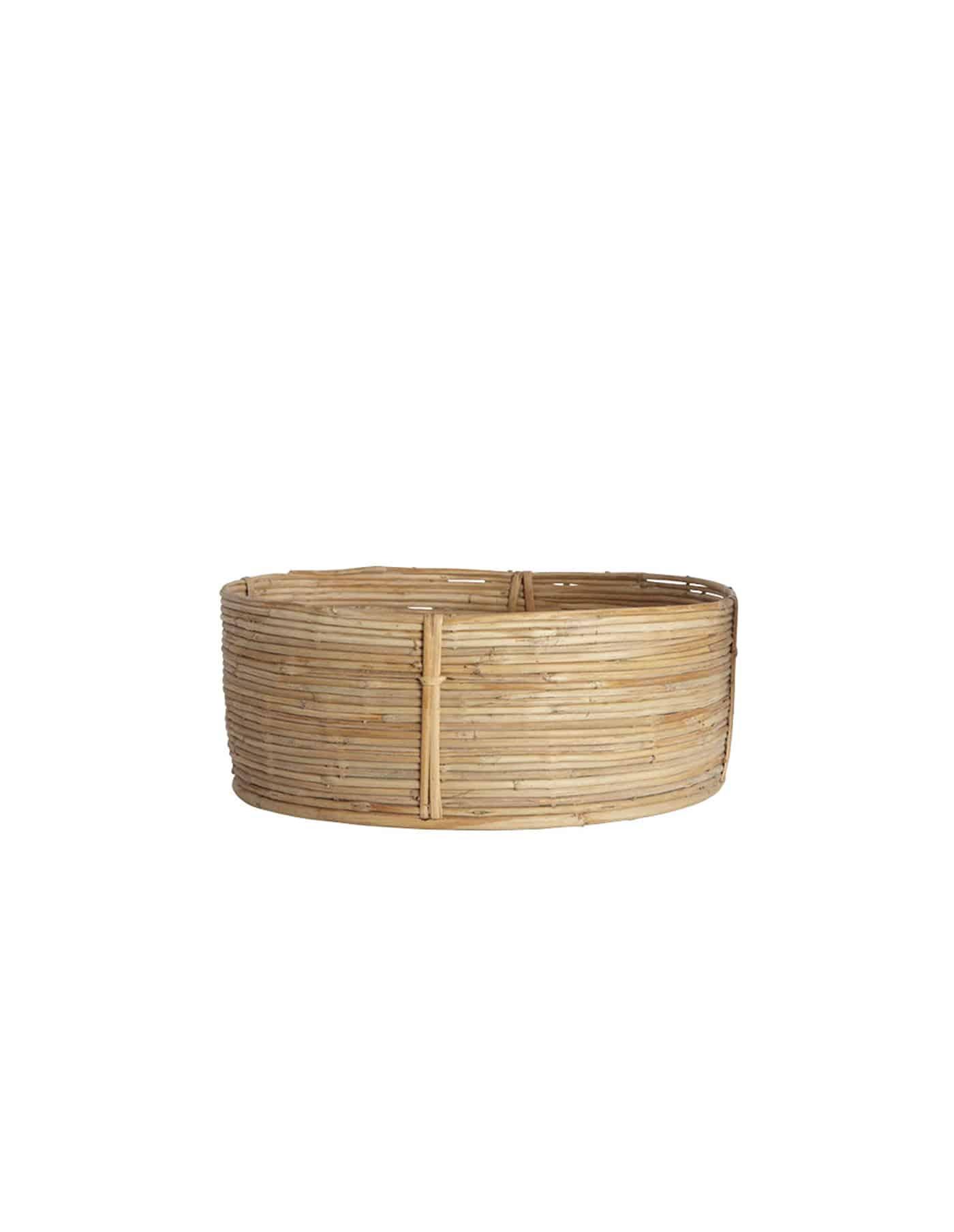 Large Retro Rattan Basket, House Doctor