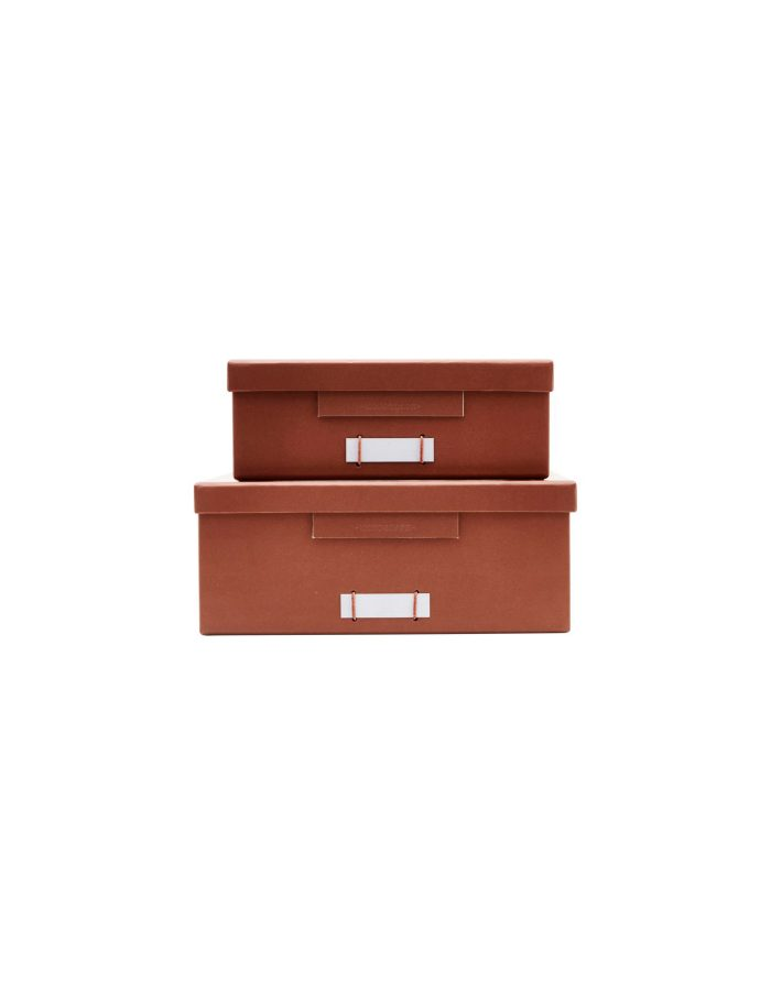 Medium Cognac File Boxes, Monograph