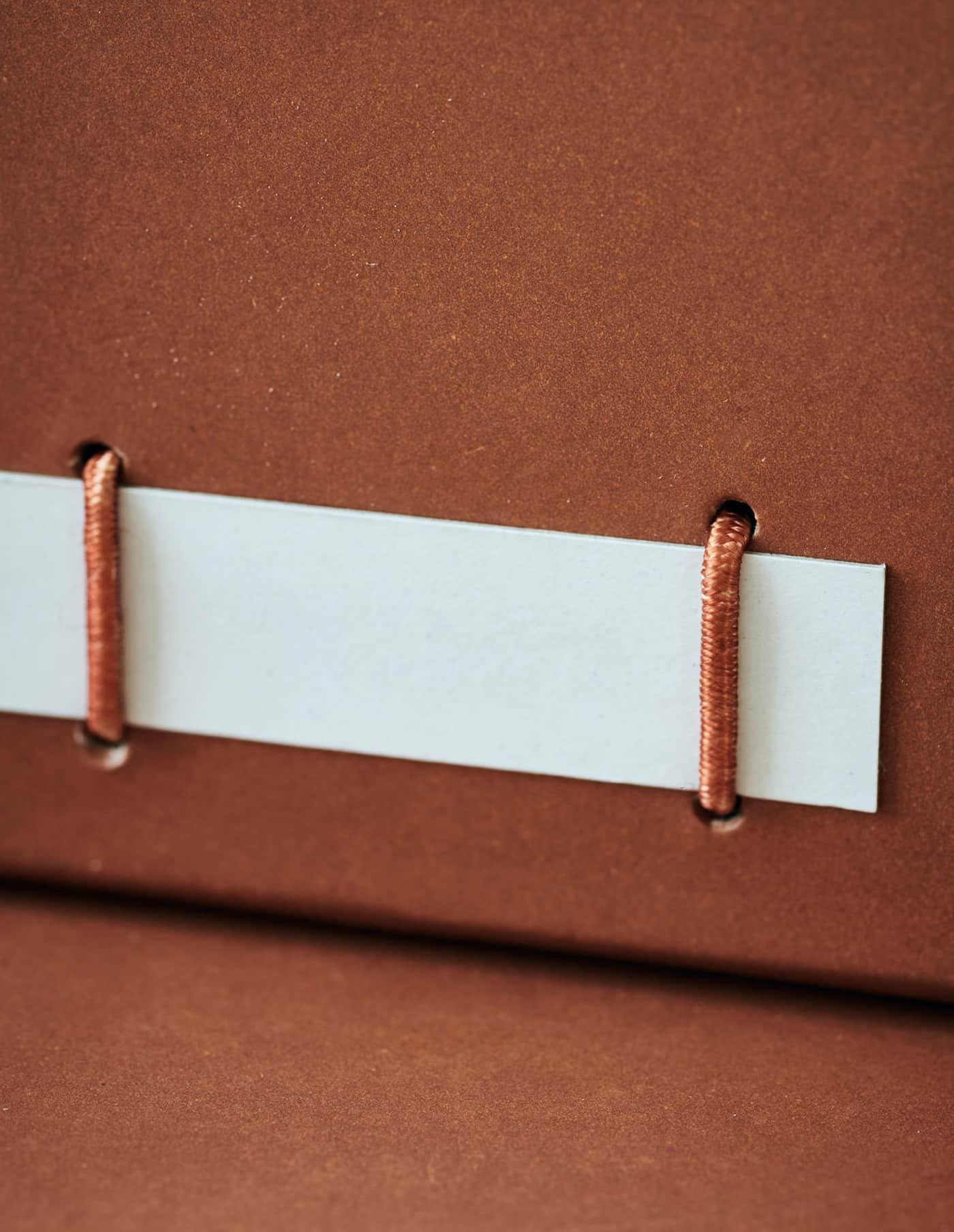 Medium Cognac File Boxes, Monograph